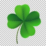 stock image of  vector four-leaf shamrock clover icon. lucky fower-leafed symbol of irish beer festival st patrick`s day