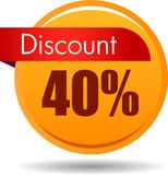 stock image of  40 discount web icon