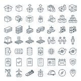 stock image of  vector line icon for business e-commerce, logistics, import & export