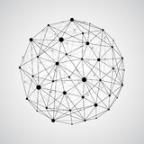 stock image of  vector wireframe connecting earth sphere. globe connection concept. globe structure connect, illustration of globe network