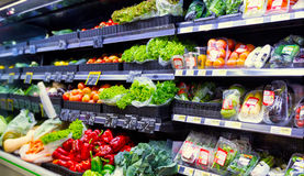 stock image of  vegetables at the supermarket
