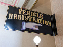 stock image of  vehicle registration