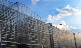 stock image of  vertical farming industry, large scale