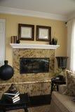 stock image of  vertical granite fireplace 2