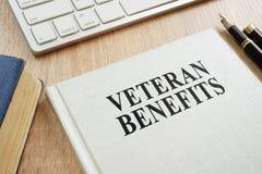stock image of  veteran benefits on a desk.