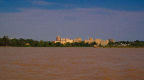 stock image of  view to niger river and niamey city,old presidential palace niamey niger