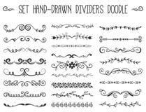 stock image of  text separator decoratice divider book typography ornament design elements vector vintage dividing shapes illustration