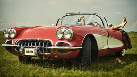stock image of  vintage car