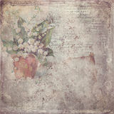 stock image of  vintage paper with flower