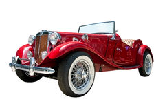 stock image of  vintage sport retro convertible car isolated