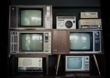 stock image of  vintage television