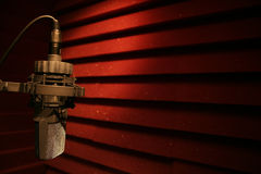 stock image of  vocal booth