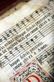stock image of  vocal mass score