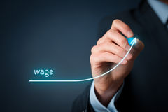 stock image of  wage increase