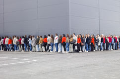 stock image of  waiting in line