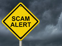 stock image of  warning of scam