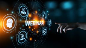 stock image of  webinar e-learning training business internet technology concept