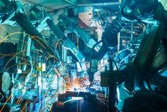 stock image of  welding robots