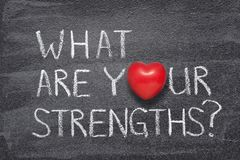 stock image of  what are your strengths heart