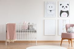 stock image of  crib in baby room