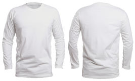 stock image of  white long sleeve shirt mock up