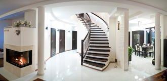 stock image of  wide angle modern home