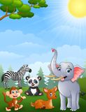 stock image of  wild animals cartoon