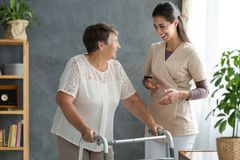 stock image of  woman with parkinson`s disease