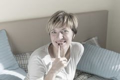 stock image of  woman in playful mood