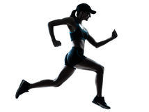 stock image of  woman runner jogger