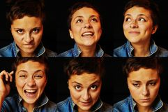 stock image of  woman`s emotions