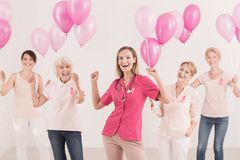 stock image of  women with balloons