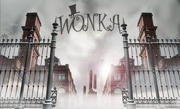 stock image of  wonka gate