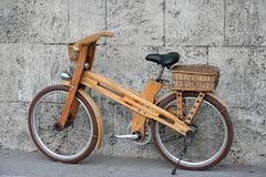 stock image of  wooden bike