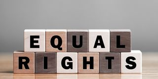 stock image of  equal rights concept