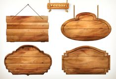 stock image of  wooden board, old wood vector set