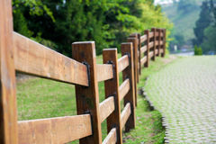 stock image of  wooden fence