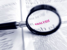 stock image of  word analysis in focus