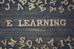 stock image of  word elearning