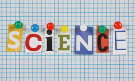 stock image of  the word science