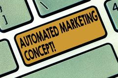 stock image of  word writing text automated marketing concept. business concept for automate repetitive tasks such as emails keyboard