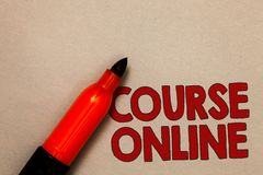 stock image of  word writing text course online. business concept for elearning electronic education distant study digital class open