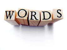 stock image of  words