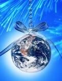 stock image of  world christmas globe earth