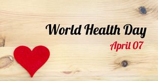 stock image of  world health day concept with red heart