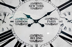 stock image of  worldwide cities clockface