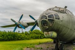 stock image of  wounded bird! abandoned soviet military transport aircraft