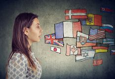stock image of  young man learning different languages