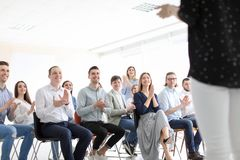 stock image of  young people having business training