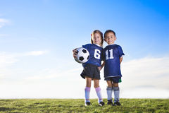 stock image of  youth soccer players
